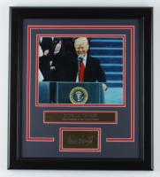 Donald Trump 16x18 Custom Framed Photo Display at PristineAuction.com