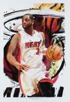 """Jason Oakes - """"Dwayne Wade"""" Signed Heat Collection 13"""" x 19"""" Lithograph (PA COA) at PristineAuction.com"""