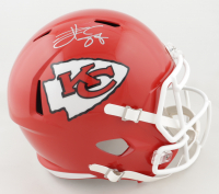 Travis Kelce Signed Chiefs Full-Size Speed Helmet (Beckett Hologram) at PristineAuction.com