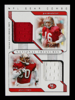 Jerry Rice / Joe Montana 2020 Panini National Treasures NFL Gear Combo Materials #19 #08/99 at PristineAuction.com