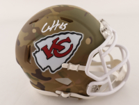 Clyde Edwards-Helaire Signed Chiefs Camo Alternate Speed Mini Helmet (Beckett Hologram) at PristineAuction.com