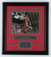 Michael Jordan Bulls 16x18 Custom Framed Photo Display at PristineAuction.com