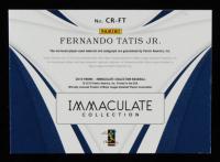 Fernando Tatis Jr. 2019 Immaculate Collection Clutch Rookies Dual Memorabilia Autographs #15 #03/49 at PristineAuction.com