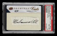 Muhammad Ali 2009 Upper Deck Prominent Cuts Cut Signatures #PCMALI #2/5 (PSA 8) at PristineAuction.com