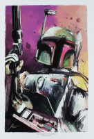 """Jason Oakes - """"Boba Fett"""" Signed Star Wars Bounty Hunters Collection 13"""" x 19"""" Lithograph (PA COA) at PristineAuction.com"""