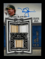 Mark McGwire 2020 Topps Sterling Sterling Swings Relic Autographs Blue #SWARMM at PristineAuction.com