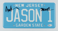 """Ari Lehman Signed """"Friday the 13th"""" New Jersey License Plate Inscribed """"Jason 1"""" (Beckett COA) at PristineAuction.com"""