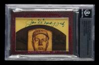 Joe DiMaggio / Ichiro Suzuki 2012 Leaf Cut Signature Excutive Collection Masterpieces Dual Baseball Legends #1/1 (BGS Encapsulated) at PristineAuction.com