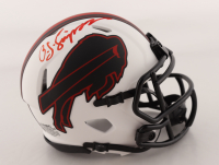 O. J. Simpson Signed Bills Lunar Eclipse Alternate Speed Mini Helmet (JSA COA) at PristineAuction.com