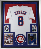 Andre Dawson Signed Cubs 34x42 Custom Framed Jersey Display (JSA COA) (See Description) at PristineAuction.com