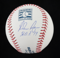 "Nolan Ryan Signed OML Hall of Fame Logo Baseball Inscribed ""H.O.F. '99"" (PSA LOA - Graded 9) at PristineAuction.com"
