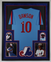 Andre Dawson Signed 34x42 Custom Framed Jersey Display (JSA COA) at PristineAuction.com