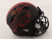 O. J. Simpson Signed Bills Eclipse Alternate Speed Mini Helmet (JSA COA) at PristineAuction.com