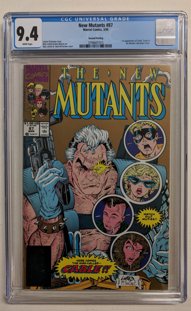 """1990 """"The New Mutants"""" Issue #87 Marvel Comic Book (CGC 9.4) at PristineAuction.com"""