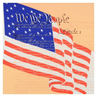 """Steve Kaufman Signed """"We the People"""" Limited Edition 24x24 Hand Pulled Silkscreen on Canvas #16/50 at PristineAuction.com"""
