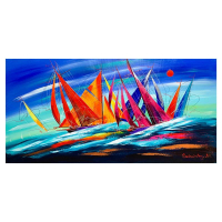 Natalia Sinkovsky Signed 24x48 Original Acrylic Painting on Canvas at PristineAuction.com