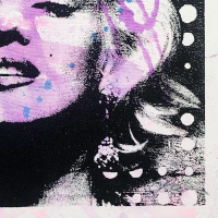 """Gail Rodgers Signed """"Marilyn Monroe"""" 23x23 Original Hand Pulled Silkscreen Mixed Media on Canvas at PristineAuction.com"""