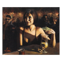 """Fabian Perez Signed """"Cocktail In Maui"""" Hand Textured Limited Edition 20x25 Giclee on Canvas AP #30/35 at PristineAuction.com"""
