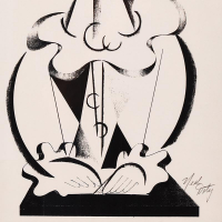 """Neal Doty Signed """"Picasso Man"""" 17x24 Custom Framed Hand Signed Print at PristineAuction.com"""