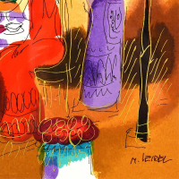 Moshe Leider Signed Limited Edition 15x17 Serigraph, AP #1/95 at PristineAuction.com