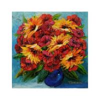 "Yana Korobov Signed ""Amazing Storm"" 24x24 Original Acrylic Painting on Canvas at PristineAuction.com"