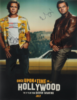 """""""Once Upon a Time in Hollywood"""" 11x14 Photo Cast-Signed by (5) with Margaret Qualley, Brad Pitt, Leonardo DiCaprio, Quentin Tarantino, & Margot Robbie (JSA ALOA) at PristineAuction.com"""