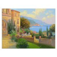 """Ming Feng Signed """"Majestic Riviera"""" 40x30 Original Oil Painting on Canvas at PristineAuction.com"""