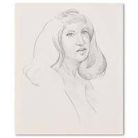"Charles Lynn Bragg Signed ""Cynthia"" 10x12 Original Pencil Drawing at PristineAuction.com"