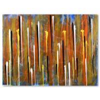 """David Ashouri Signed """"Stand Up"""" 48x36 Original Acrylic Painting on Canvas at PristineAuction.com"""