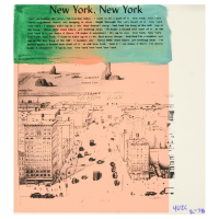 """Ringo Signed """"New York, New York"""" 14x16 One-of-a-Kind Mixed Media on Canvas at PristineAuction.com"""