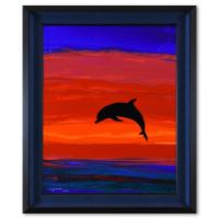 "Wyland Signed ""Dolphin Glory"" 20x24 Custom Framed Original Acrylic Painting on Masonite at PristineAuction.com"