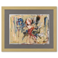 Marta Wiley Signed 27x22 Custom Framed Original Mixed Media Painting at PristineAuction.com