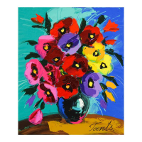 Lena Tants Signed 20x24 Original Acrylic Painting on Canvas at PristineAuction.com