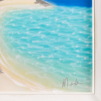 """Dan Mackin Signed """"Shore Thing"""" 17x26 Custom Framed Original Oil Painting on Canvas at PristineAuction.com"""