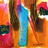 Moshe Leider Signed Limited Edition 16x17 Custom Famed Serigraph #251/495 at PristineAuction.com