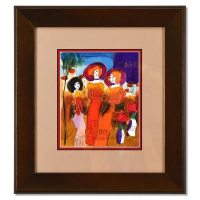 Moshe Leider Signed 15x17 Custom Framed Original Mixed Media Watercolor Painting at PristineAuction.com