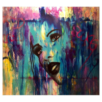 """Jay Johansen Signed """"Enamored"""" 50x54 Original Painting on Canvas at PristineAuction.com"""