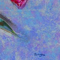 "Lu Hong Signed ""Esoteric Dream III (1996)"" 36x36 Custom Framed Original Mixed Media Painting at PristineAuction.com"