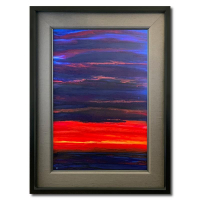"""Wyland Signed """"Radiant Sun II"""" 46x34 Original Painting on Canvas at PristineAuction.com"""