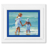 """Lucelle Raad Signed """"A Helping Hand"""" 15x13 Custom Framed Original Acrylic Painting on Board at PristineAuction.com"""
