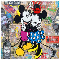 """Jozza Signed """"We can do it!"""" 40x40 Original Mixed Media on Canvas at PristineAuction.com"""