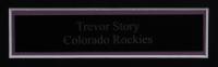"Trevor Story Signed Rockies 22.5x30.5 Custom Framed Photo Display Inscribed ""3 HR 9/5/18"" (JSA COA) (See Description) at PristineAuction.com"