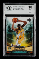 Kevin Durant 2007-08 Upper Deck NBA Rookie Box Set #11 (BCCG 10) at PristineAuction.com