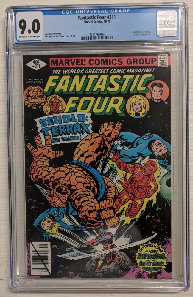 "Vintage 1979 ""Fantastic Four"" Issue #211 Marvel Comic Book (CGC 9.0) at PristineAuction.com"