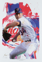 """Jason Oakes - """"Nolan Ryan"""" Signed Rangers Collection 13"""" x 19"""" Lithograph (PA COA) at PristineAuction.com"""