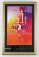 """""""John Wick Chapter 3 - Parabellum"""" 15.5x22.5 Custom Framed Movie Poster Display with Movie Prop Replica Continental Hotel Keycard & Coin at PristineAuction.com"""
