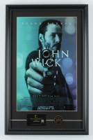 """""""John Wick"""" 15x23 Custom Framed Movie Poster Display with Movie Prop Replica Continental Hotel Keycard & Coin at PristineAuction.com"""