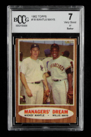 Mickey Mantle / Willie Mays 1962 Topps #18 Managers Dream (BCCG 7) at PristineAuction.com