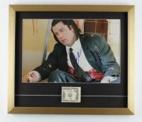 "John Travolta Signed ""Pulp Fiction"" 19x22 Custom Framed Photo Display with Cash Movie Prop (PSA COA) at PristineAuction.com"