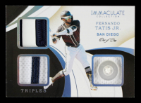Fernando Tatis Jr. 2020 Immaculate Collection Immaculate Triples Memorabilia Platinum #11 #1/1 at PristineAuction.com